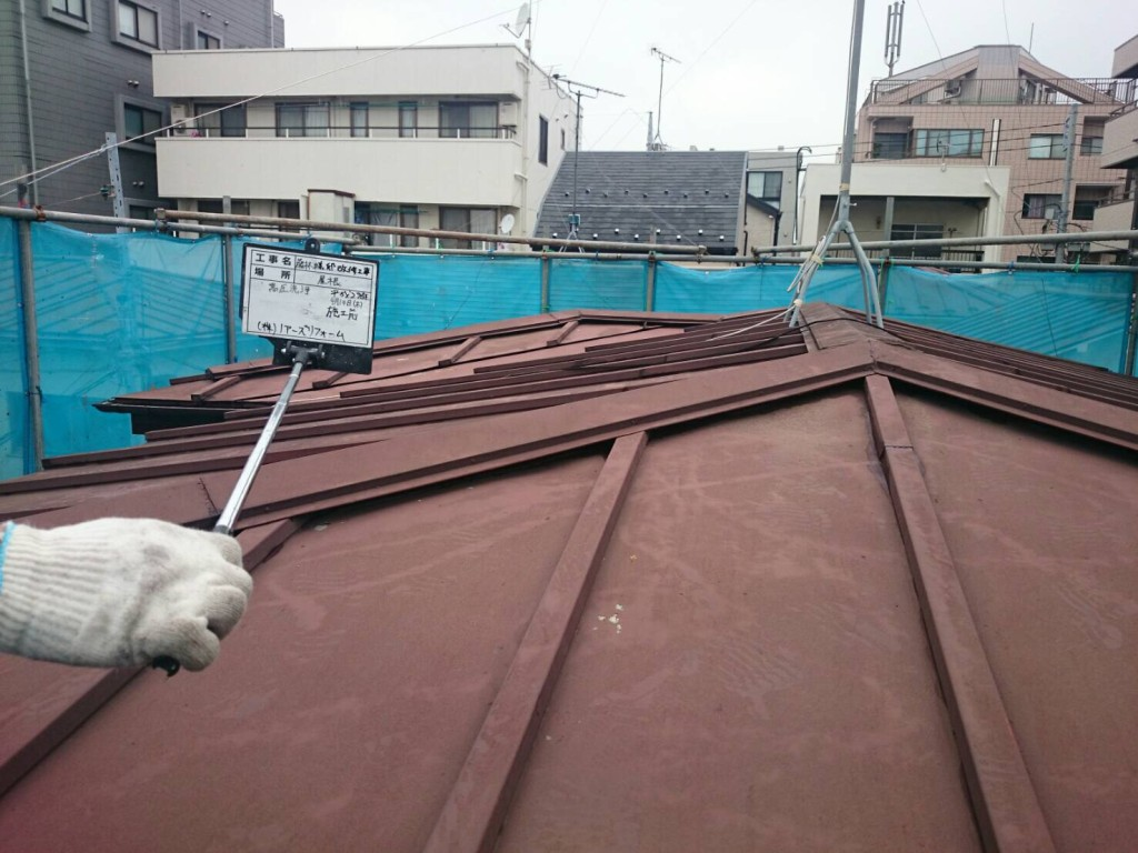 屋根洗浄施工前